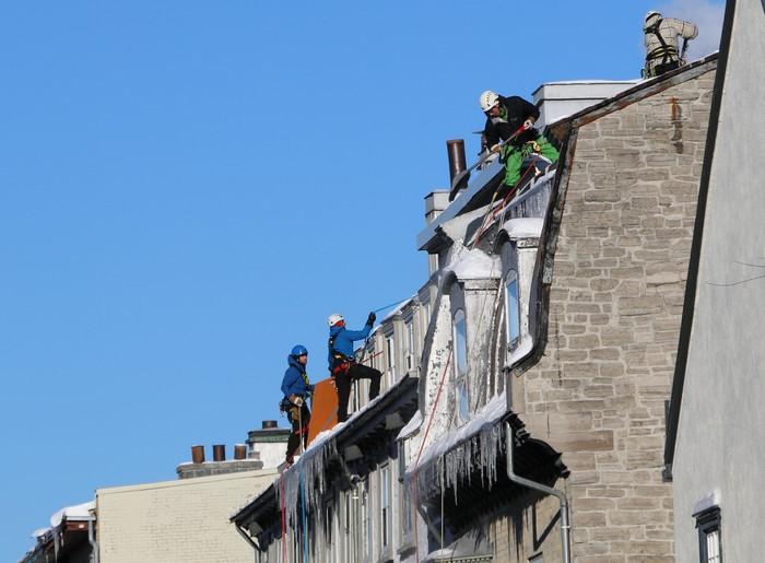 Nettoyage des toits.
